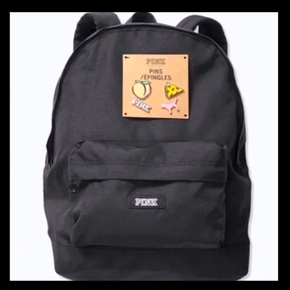 💕P͙I͙N͙K͙ V͙S͙ Mini Backpack With 4 Pins NWT💕
